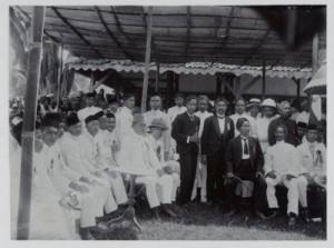 Oprichtingsvergadering van de afdeling van de Sarekat Islam te Blitar (1914).